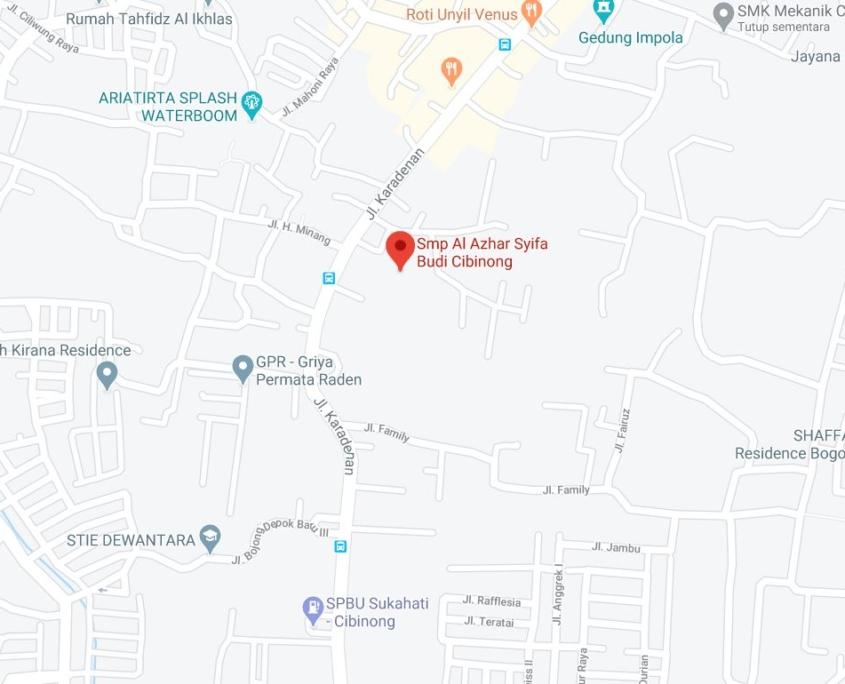 Lokasi SMP Al-Azhar Syifa Budi Cibinong